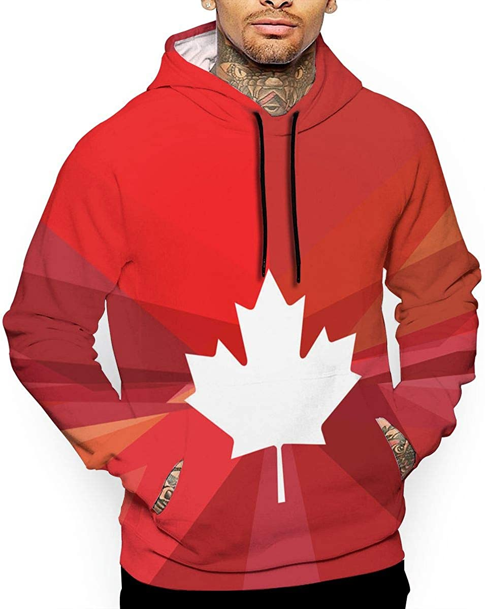 Eh Canada Day T-Shirt Hooded with A Pocket Rope Hat Customization Fashion Novelty 3D Mens Glory Canada