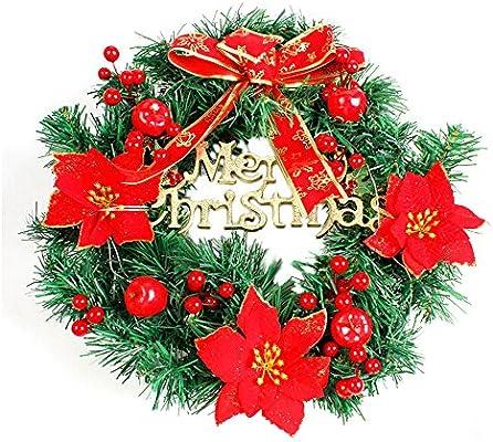Diy Merry Christmas Wreath 40cm Garland Window Door Decorations