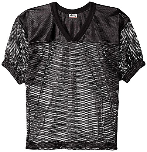 Adams USA FB Youth Jersey with Elastic Sleeve, Black, L ()