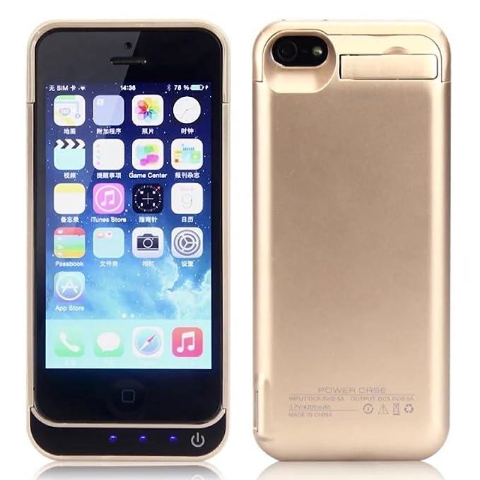 vandarui® para iPhone se/5/5S/5 C Funda Carcasa Batería ...