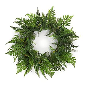 Melrose International, LLC Spring Floral Beautiful Mixed Greens Fern Wreath 115