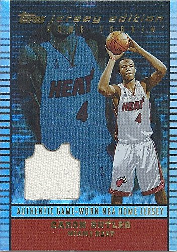 - CARON BUTLER AUTHENTIC GAME - WORN NBA HOME JERSEY COLLECTIBLE TRADING CARD - 2003 TOPPS JERSEY EDITION HOME COOKIN CARD #JE-CBU (MIAMI HEAT) FREE SHIPPING