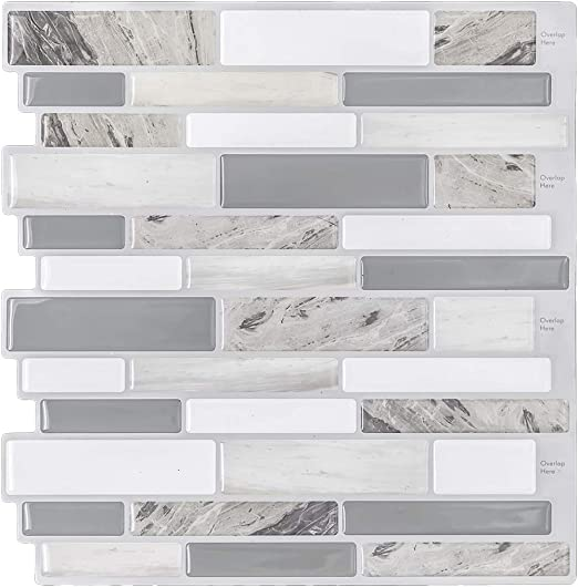 Modern Grey Peel And Stick Tile Backsplash For Kitchen Decorative Vinyl Backsplash Tile Peel And Stick