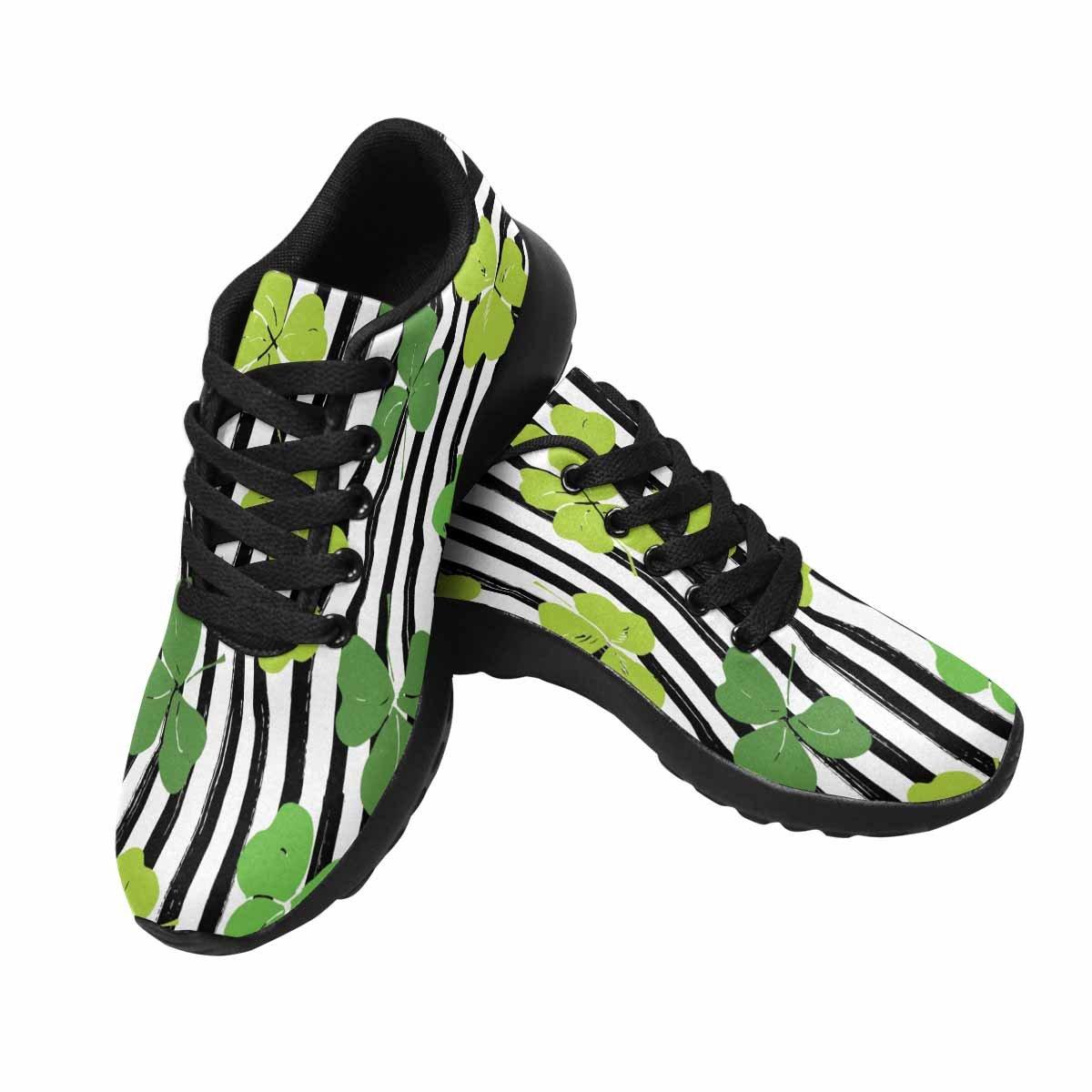 InterestPrint Women's Jogging Running Sneaker Lightweight Go Easy Walking Comfort Sports Running Shoes Clover Leaf St Patrick's Day 6 B(M) US