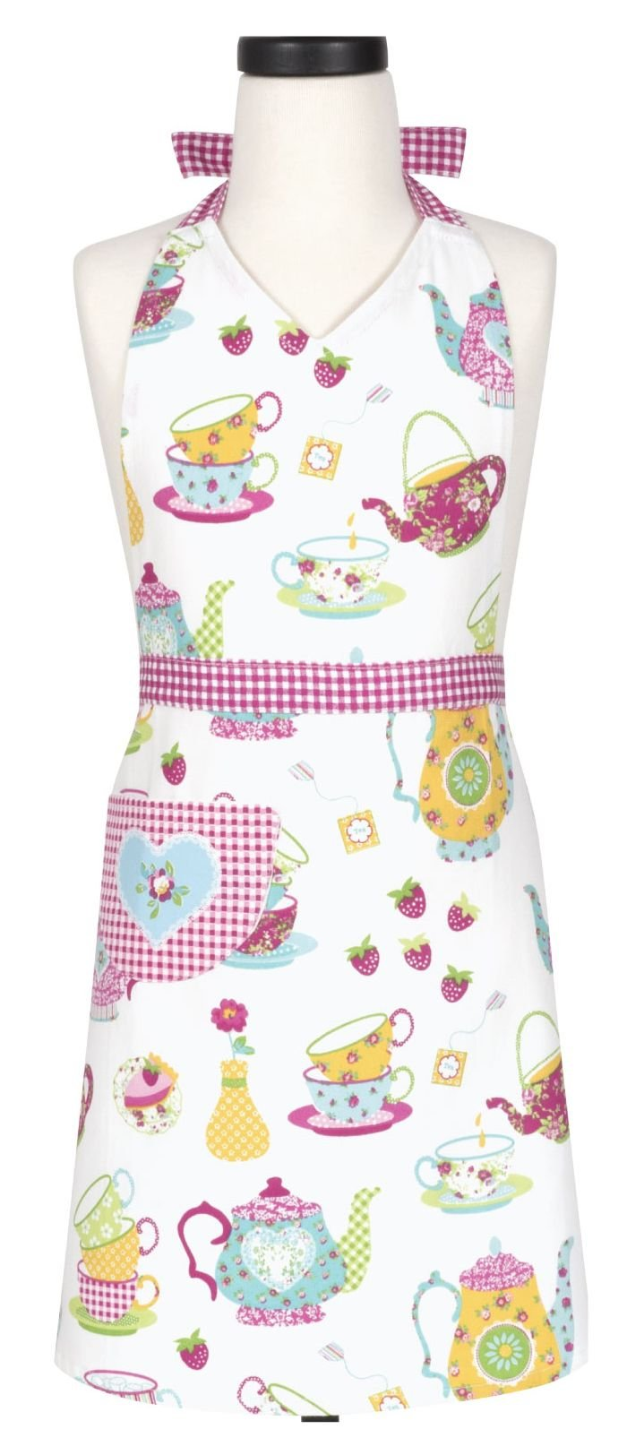 Handstand Kitchen Child's 100% Cotton 'Spring Tea Party' Apron with Patch Pocket