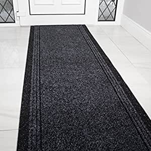 Amazon Com Grey Black Rubber Backed Very Long Hallway