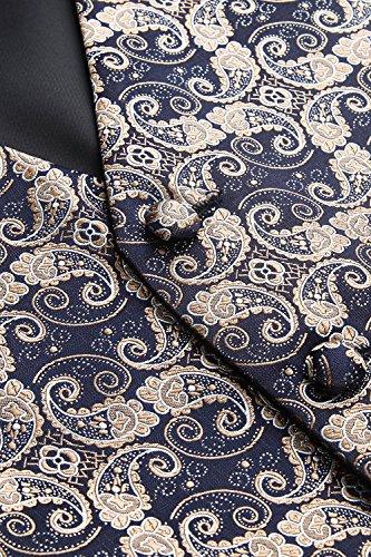 Marine Cravate Carré Jacquard Et Ensemble Paisley Gilet Hommes Classique Poche Bleu Or amp; Floral Hisdern xwS6Bqv0B