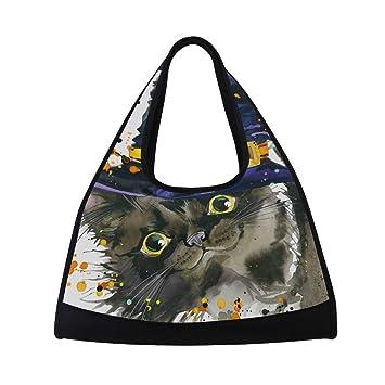 Amazon.com: Bolsa de gimnasio deportiva para Halloween, gato ...
