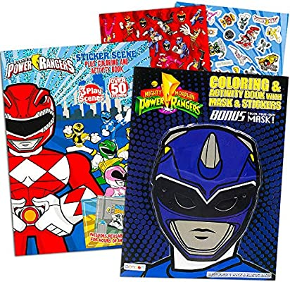 - Power Rangers Coloring Book Super Set -- 2 Coloring And Activity Books And  Over 50 Stickers: Amazon.sg: Home