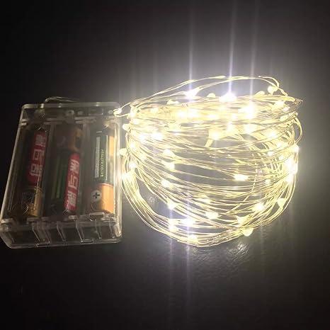 Feita Micro LED guirnalda de luces LED funciona con pilas de 9,8 pies/