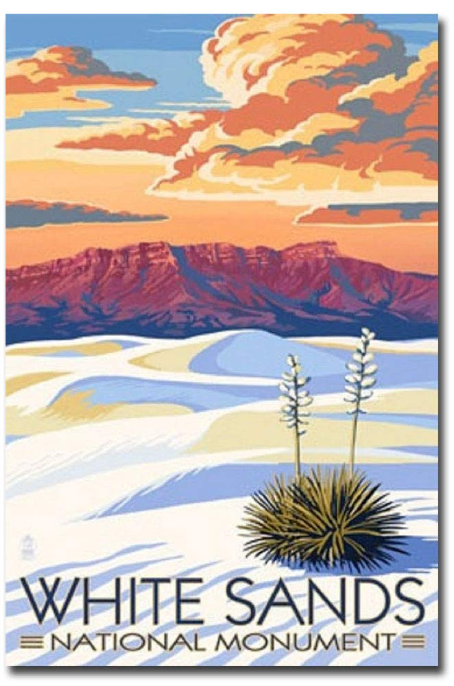 "White Sands National Monument Travel Art Refrigerator Magnet Size 2.5"" x 3.7"""