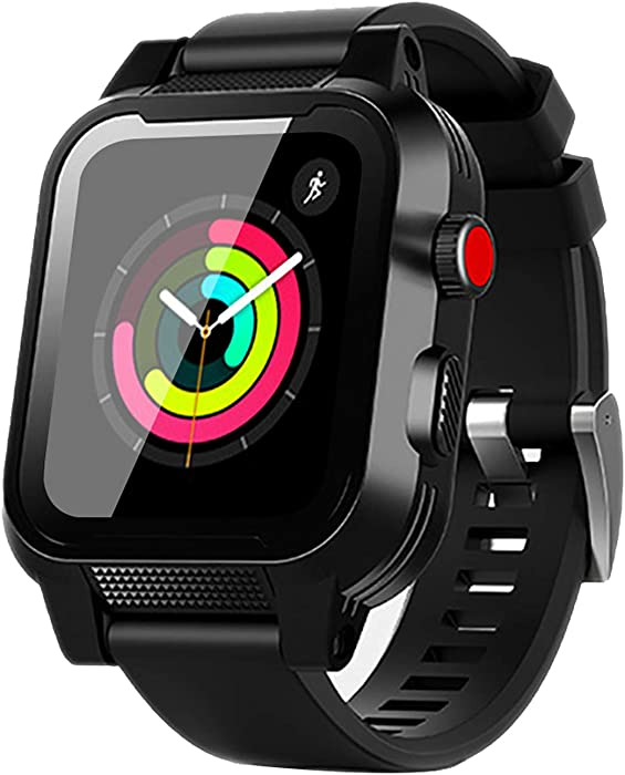 Apple Watch Waterproof Case 38mm, iWatch Case IP68 Waterproof Shockproof Impact Resistant Protective Case with Strap Bands for Apple Watch Waterproof Case 38mm Series 3&2 (for 38mm Apple Watch Case)