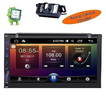 """Cámara inversa incluye Android 7 """"GPS coche DVD reproductor de cuatro núcleos 3D GPS"""
