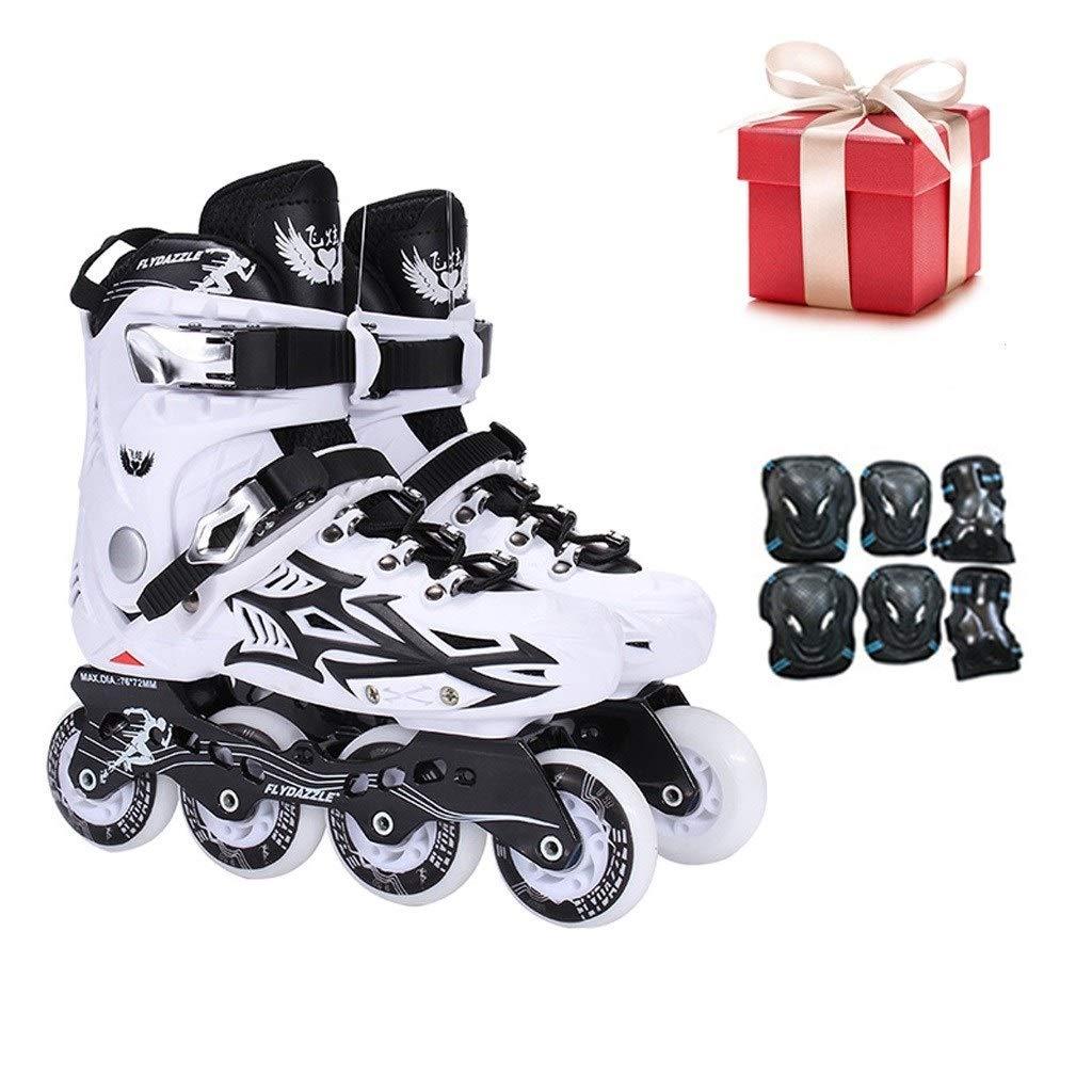 インラインスケート、大人専門の単一の行のスケート靴はスケート靴を加速します (Color : B, Size : EU 44/US 11/UK 10/JP 27cm) B EU 44/US 11/UK 10/JP 27cm