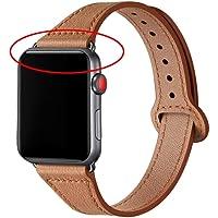 TIANQ Lederen Loop Strap Voor Apple Horloge Band 38Mm 40Mm 44Mm 42Mm Iwatch 5/4/3/2/1 Slanke Armband Polsriem…