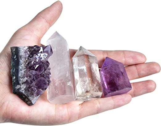 10Pcs Natural Dream Amethyst Quartz Crystal Pendant Chakra Gemstone Wand Healing