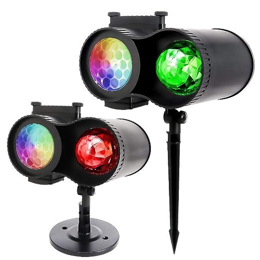 Ruiqas Luces de proyectores de Navidad Luces de Paisaje led de ...