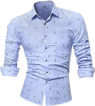 HhGold Camisa Azul Marino para Hombre Camisa de Manga Larga Top Casual Modelo 3D Slim Fit Poliéster Personalizado Y Cuello Reino Unido Venta Gran Blusa Jersey XXL XXXL XXXXL: Amazon.es: Hogar