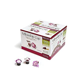 Broadman Church Supplies Pre-filled Communion Fellowship Cup, Juice and Wafer Set, 250 Count