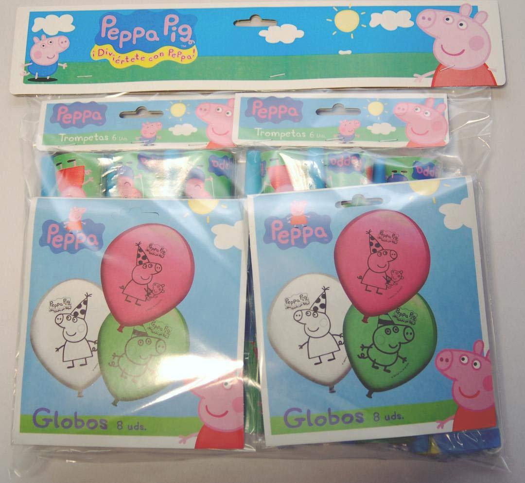 Peppa Pig 0473, Pack Decoración Fiesta y cumpleaños, 16 ...
