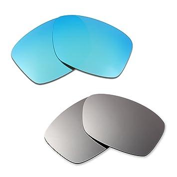 3e88263ceb HKUCO Plus Replacement Lenses For Oakley Jupiter Squared Blue Titanium  Sunglasses  Amazon.co.uk  Sports   Outdoors