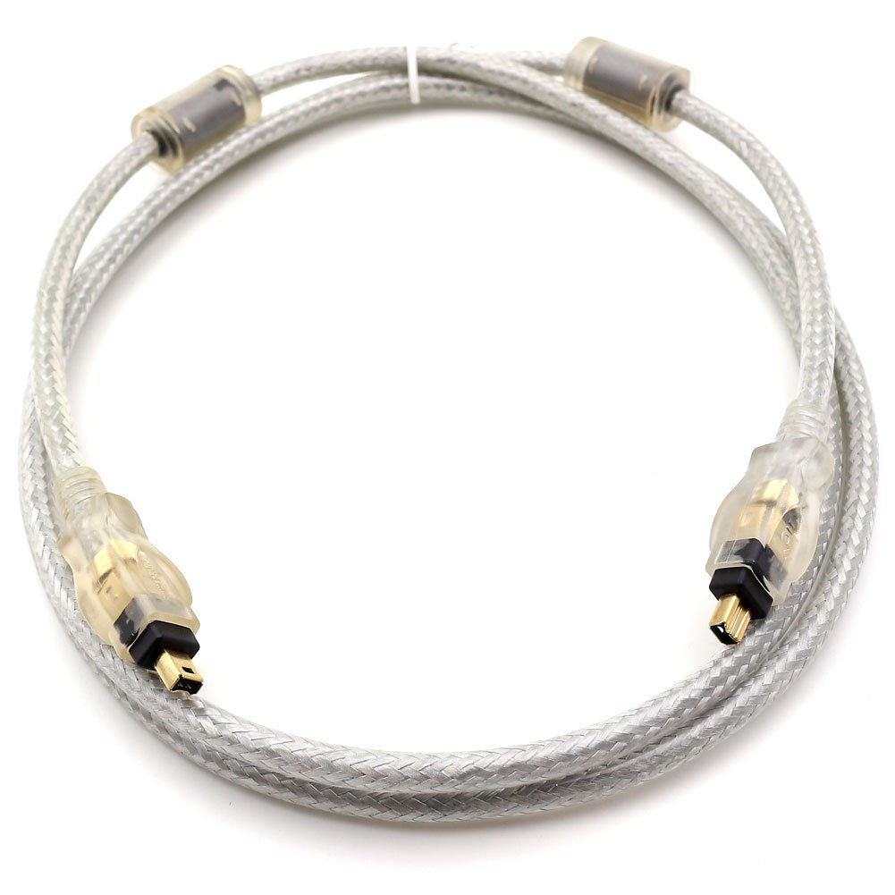 TEZONG IEEE 1394 iLINK 4Pin to 4Pin FireWire DV Cable Cord M/M For Sony Canon JVC 6Ft 1Pack