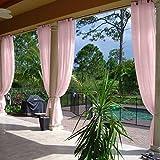 cololeaf Premium Grommet Top Sheer Curtains Indoor Outdoor For Living Room   Bedroom   Kidsroom   Classroom  Hotel - Pink 100'' W x 96'' L (1 Panel)