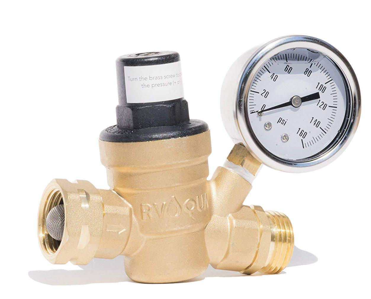 RVAQUA M11-45PSI Water Pressure Regulator}