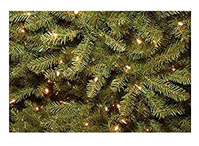 Akari Decor 7.5 Ft Foot Artificial Christmas Tree with 750 LED Prelit Clear Warm Lights Stand, indoor outdoor Hinged With UL Power