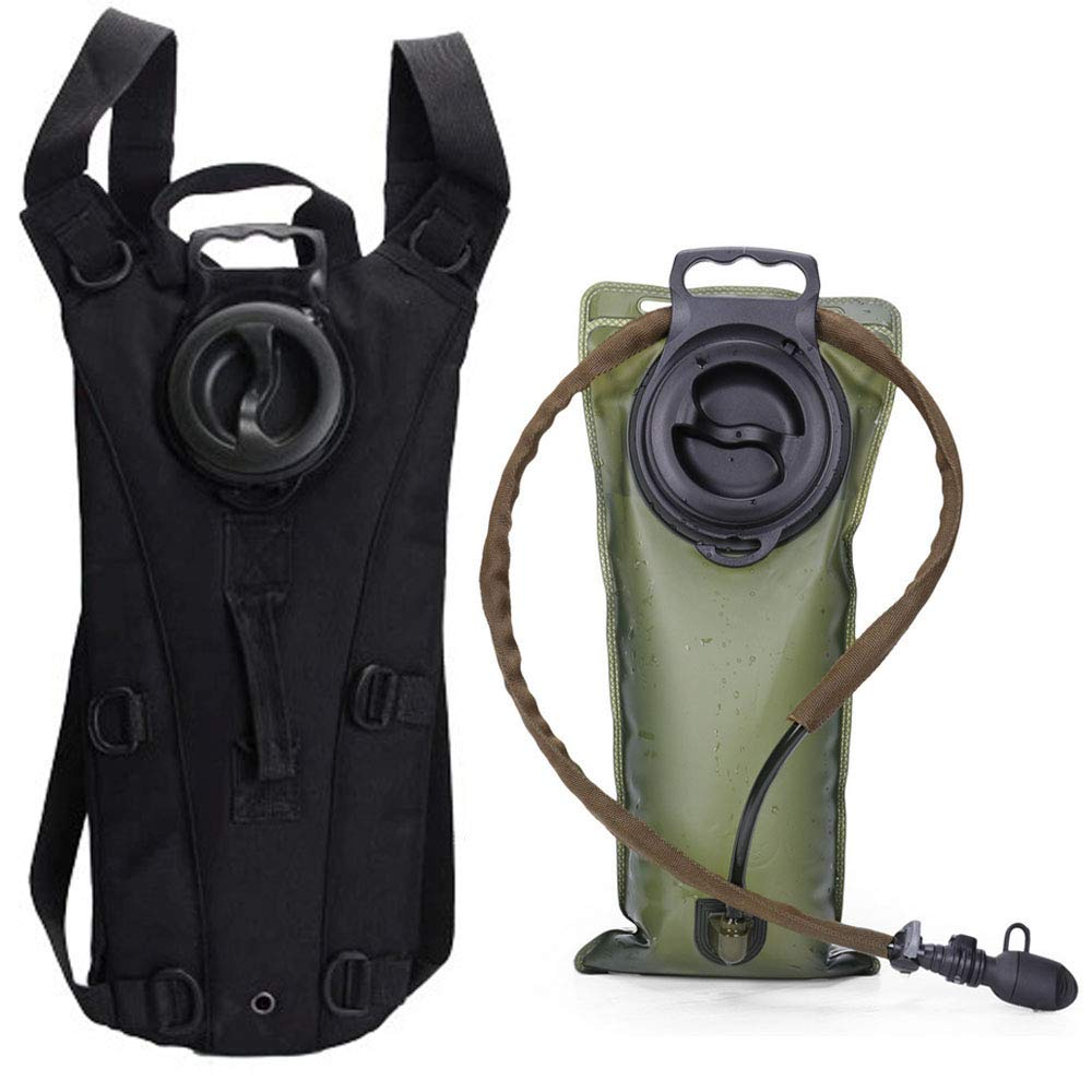 AIMILL Tactical Water Hydration Pack Minimalist Leak-Proof Reservoir Bladder Camel Backpack (Black, 2.5-3L (84-100oz)) by AIMILL