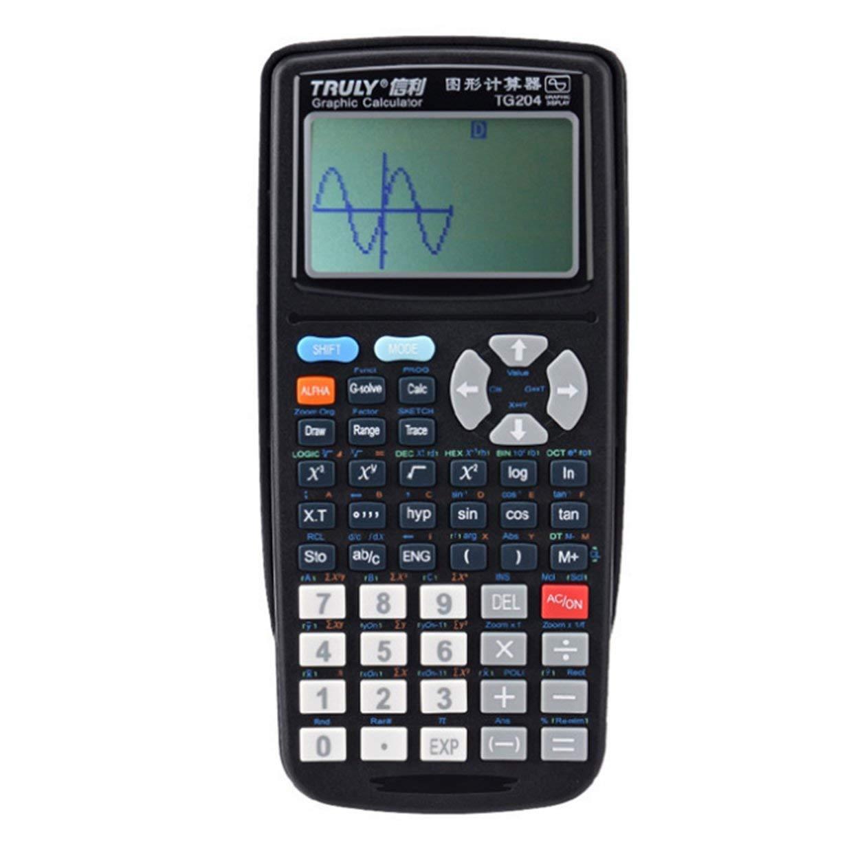 Scientific Graphing Calculator, TG204 Portable Size School Students Graphics Calculator for Graphics Teaching, Black