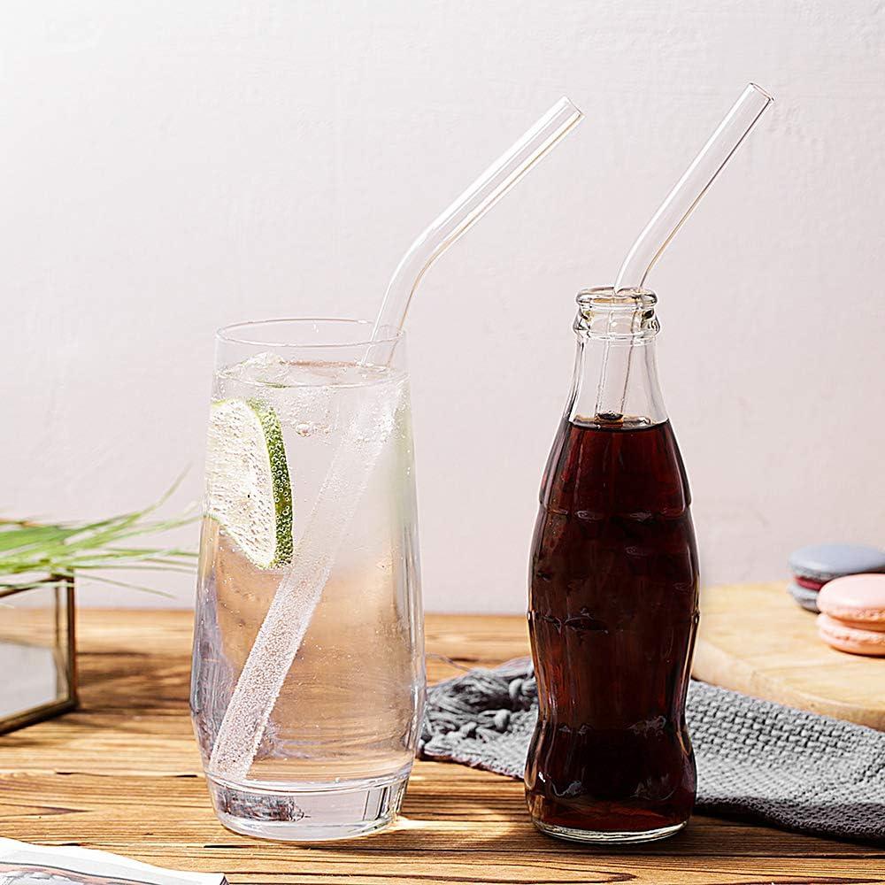 Wiederverwendbare Glastrinkhalme Milchshakes 8-Pack Eistee. Saft 10 x 10 mm Smoothie Trinkhalme perfekt f/ür Kaltgetr/änke extra Langer Trinkhalm BPA-frei DESIGN/·MASTER