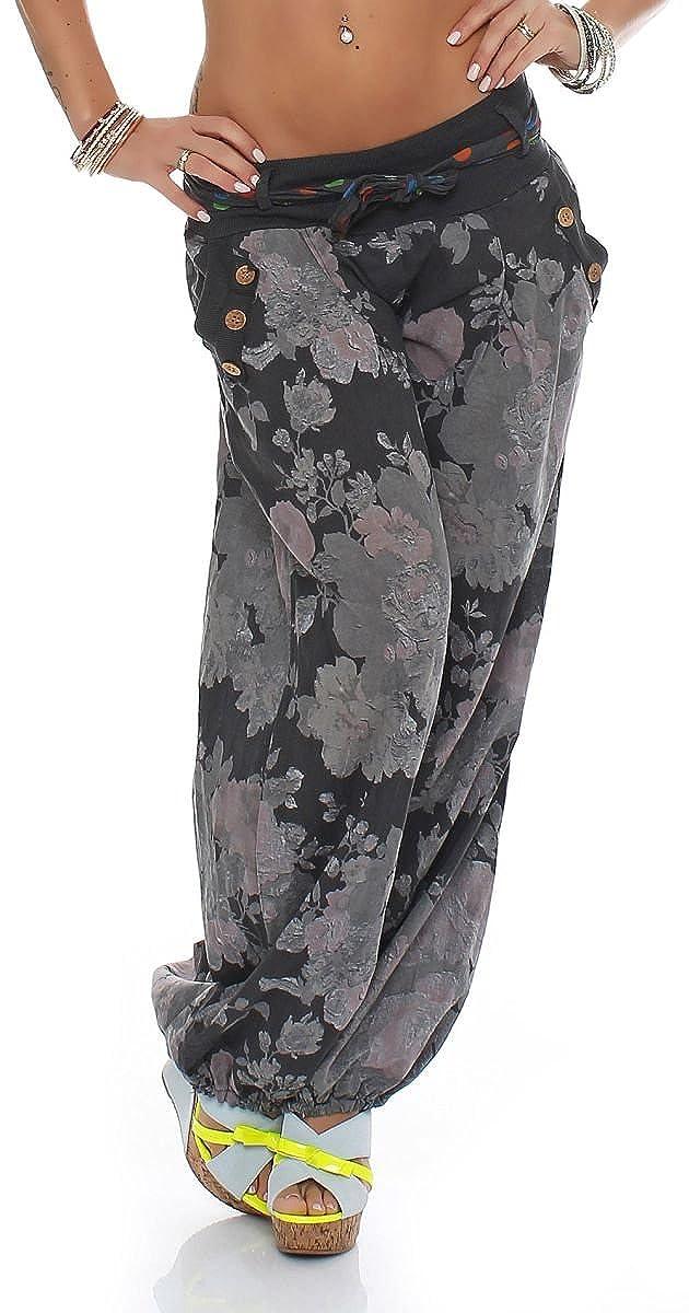 Malito Culotte Bouffante Fleur Design Harem Pantalon Sweatpants Boyfriend Pantalon Aladin Yoga 3418A Femme Taille Unique