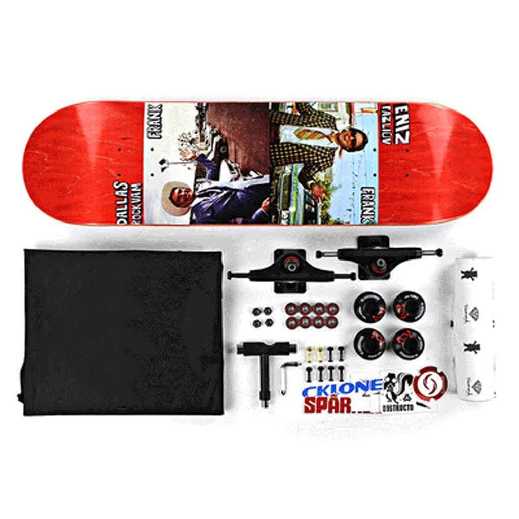 KYCD Tavola Corta per Adulti Bambini Uomini E Donne Skateboard a Quattro Ruote Principianti Assemblati Skateboard Professionale Bilaterale Tilt Skateboard (colore   Laugh)