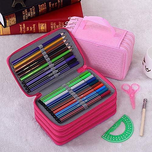Estuches para lápices | Estuche para lápices Trousse Scolaire stylo etui caja de cartucheras para lapices escolares 52/72 agujeros Kalem kutu bolsas escuela kalem kutu | por EGALIVE: Amazon.es: Oficina y papelería