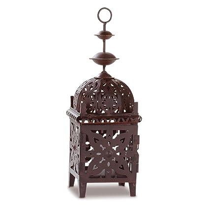 Amazon com: Moroccan Decorative Lanterns, Rustic Brown Candle