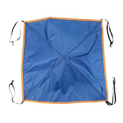 perfk Replacement Tent Top Cap Rainproof Protection Up Window Skylight Roof Vent Cover Top Tarp for Canopy Awning 56x56cm
