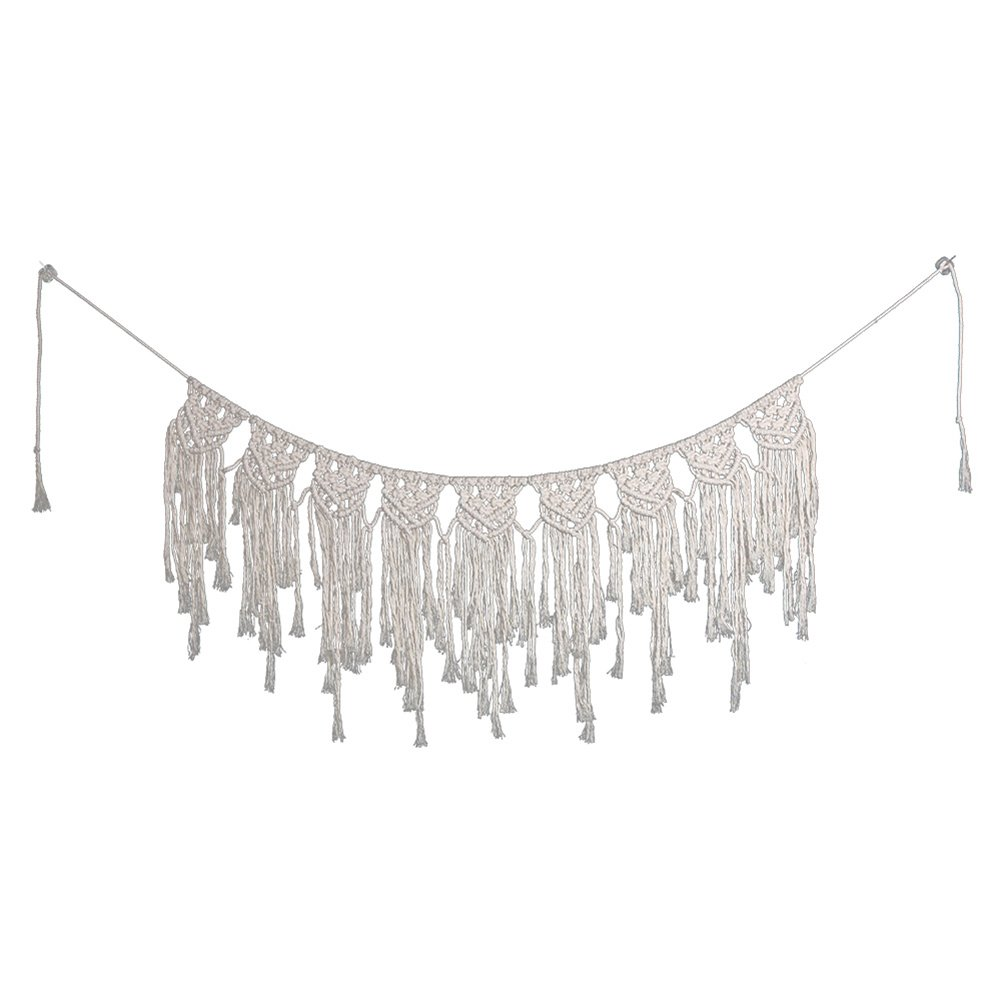 chicieve Macrame Window Curtain Valances Hand-woven Boho Wall Hanging Tapestry Home Wedding Party Wall Décor by