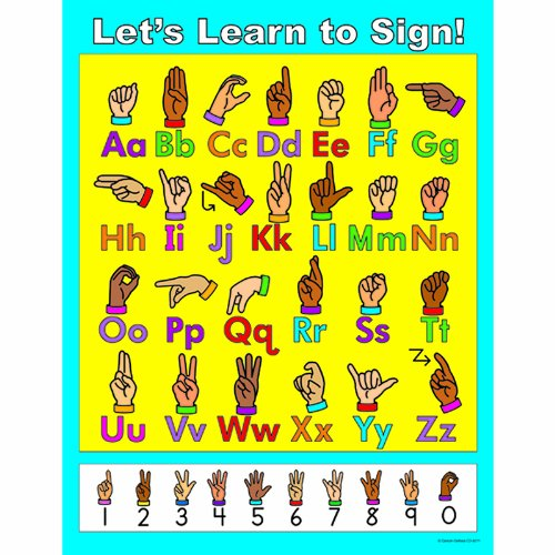 Carson Dellosa Let's Learn to Sign! Chart (Chart Sign)