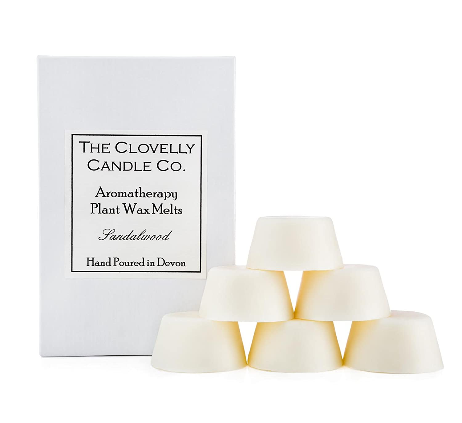 Clovelly Soap Co Handmade Natural Scented Lavender Aromatherapy Soy Wax Melts Box of 6 Tarts The Clovelly Soap Co