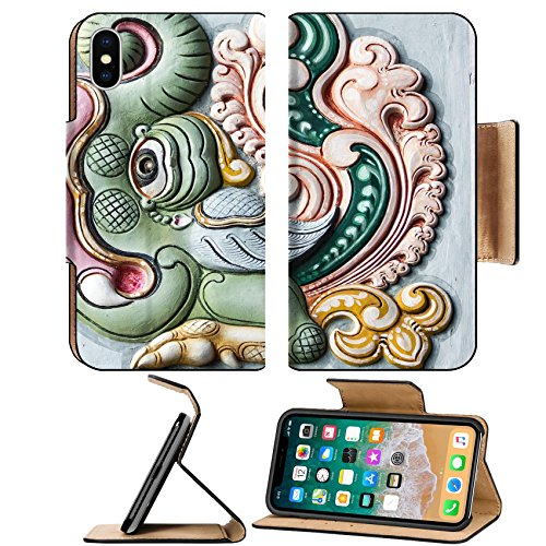 Liili Premium Apple iPhone X Flip Pu Leather Wallet Case ID: 26610143 Decoration on Gopuram of Rathinagiri Hill Temple in Vellore Tamil Nadu - New Hot Tamil