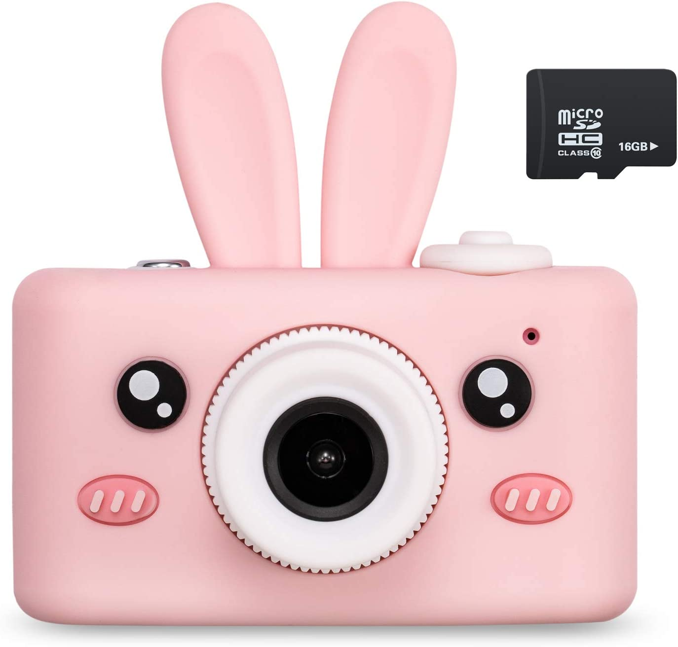 Amazon Com Abdtech Kids Camera Toys For 4 8 Year Olds Girls Rechargeable Children Digital Cameras With Rabbit Cover For Girl Boys Shockproof 8mp With 16g Sd Card Best Birthday Halloween Camera Photo