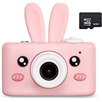 Abdtech Kids Camera Toys for 4-8 Year Olds Girls, Rechargeable Children Digital Cameras with Rabbit Cover for Girl Boys…