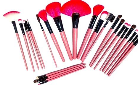 90a8c3948 Set profesional de brochas para maquillaje 24 piezas ROSAS: Amazon.com.mx:  Salud, Belleza y Cuidado Personal
