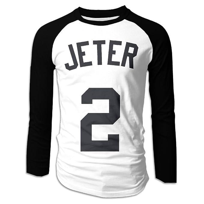 competitive price 15fe1 cf73f CDBA Derek Jeter NO.2 Long Sleeve Baseball Jersey T Shirts ...