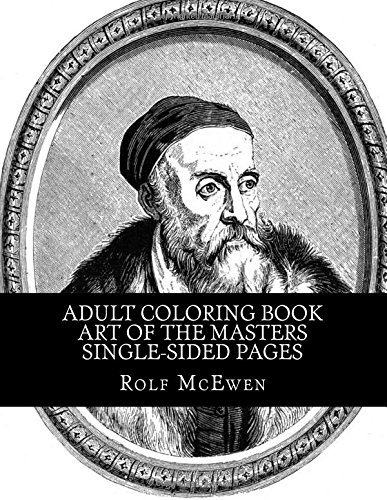 Download Adult Coloring Book - Art of the Masters Single-sided Pages ebook