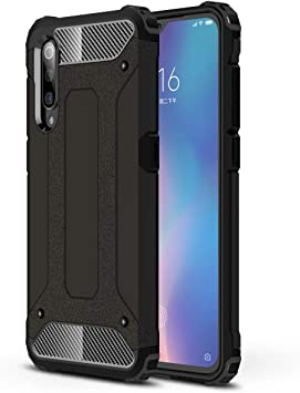 TianSY Funda Xiaomi Mi 9 PC + TPU Anti Crash Anti rayones Funda ...