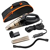 Car Vacuum Cleaner, SCOPOW Black 12V 106W 4 in 1 Handheld Multifunctional Cyclonic Wet and Dry Vacuum Cleaner Dust Buster Vacuum Cleaner with 14.7Ft Power Cord and Carrying Bag