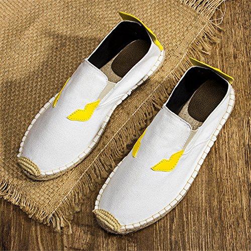 Comfortable Shoes Shoes 24XOmx55S99 Driving Mens White Casual Canvas U15qt4wxq