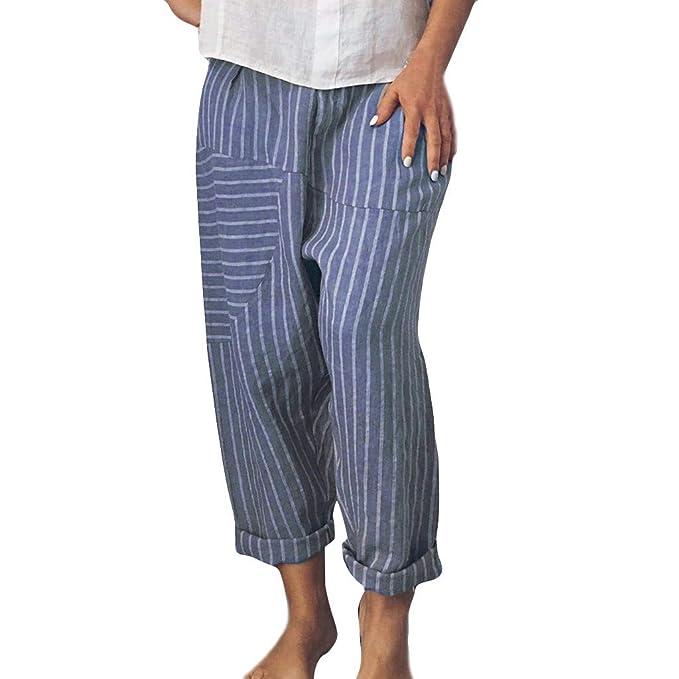 MOVERV-Pantalones de Yoga Sueltos Harén Mujer, Algodón y ...